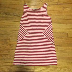 Kate Spade girls pink/white striped dress - sz 12